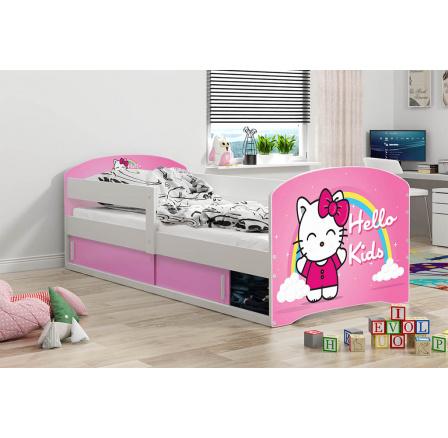 Dětská postel Luki 1 - Bílá 160x80 cm