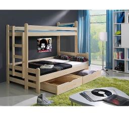 Dětská patrová postel z masivu BENJAMIN II