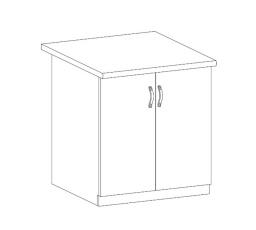 ROYAL  - dolní skříňka 80cm D80