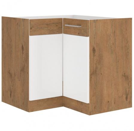 Kuchyňská skříňka Vega DN1F dub lancelot/bílý lesk