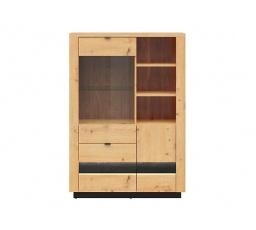 OSTIA REG1D1W2S/15/10 dub artisan/černý lesk