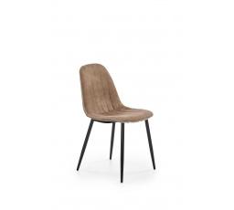 Jídelní židle K328, černá/tmavě béžová