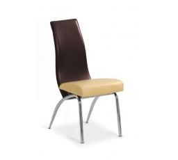 Židle K2 béžová/hnědá