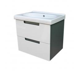 Koupelnová skříňka s umyvadlem Provo D60 grafit/bílý lesk