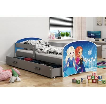 Dětská postel Luki - Grafit (Frozen) 160x80 cm