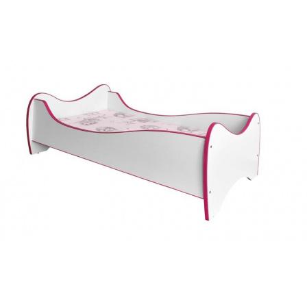 Dětská postel DUO Bílá/Růžová