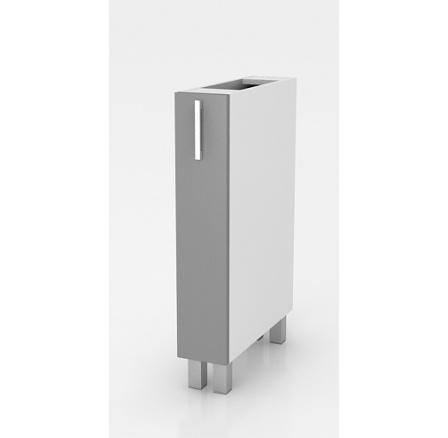 Výsuvná kuchyňská skříňka s košem Natanya KR30 šedý lesk