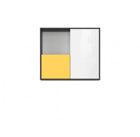GRAPHIC (S343) SFW2D/86/75/C šedý wolfram/žlutá/bílý lesk (laminát)