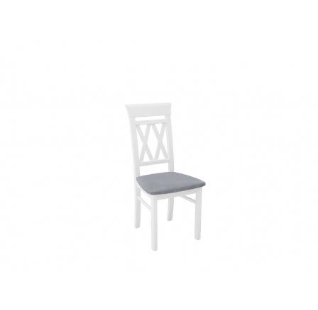 CANNET ŽIDLE  bílá (TX098)/Granada 2725 grey (jednoduché nohy)