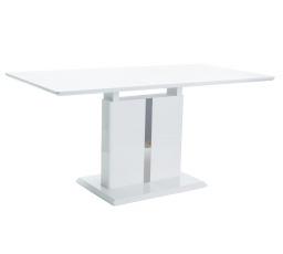 DALLAS jídelní stůl rozkladací-bílá vysoký lesk (S) (K150-Z)