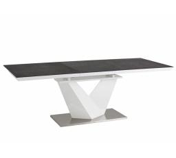 Jídelní stůl ALARAS II 140 šedý / bílý lak