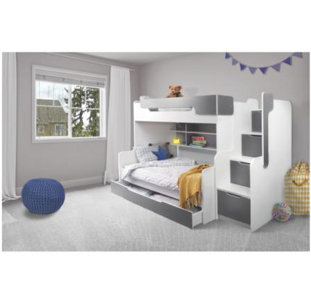 Patrová postel Harry 3  šedá