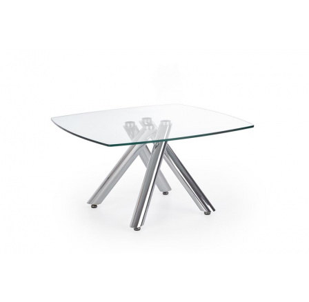 Konferenční stůl ALMERA /transparentní sklo + chromovaná ocel