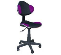 Dětská židle Q-G2 černá/fialová