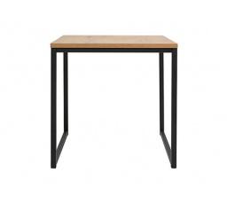 stolek AROZ LAW/40 dub lancelot/černý kovový rám