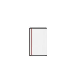 GRAPHIC (S343) KOM1DP/B šedý wolfram/bílá/červená