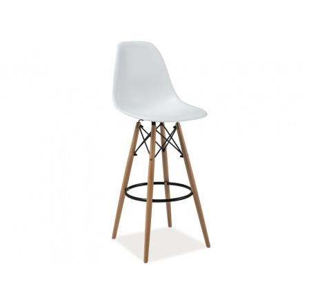 Barová židle ENZO H-1 bílá