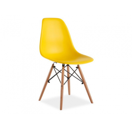 Jídelní židle ENZO, žlutá/buk