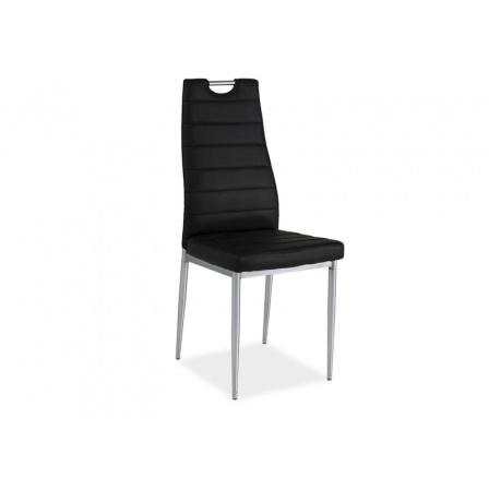 Jídelní židle H-260, černá/chrom