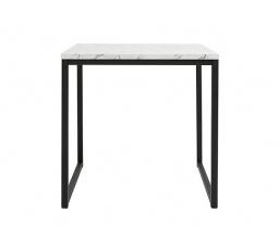 stolek AROZ LAW/40 mramor carrara bílý/černý kovový rám