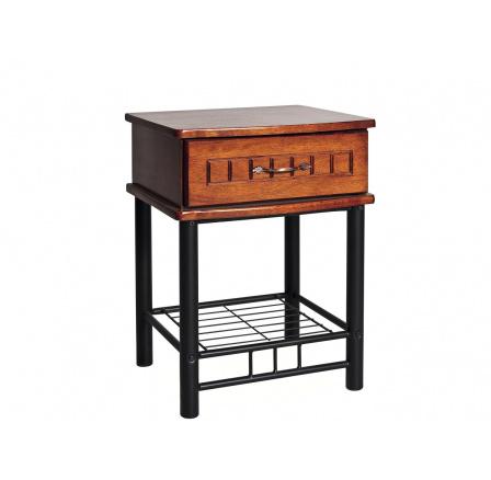 SOPHIA noční stolek (1-zás.) antická třešeň/černá (K150-Z)  (S)