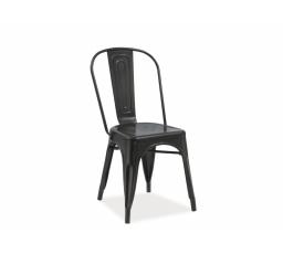 Jídelní židle LOFT, černý mat