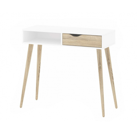 Toaletní stolek Retro 388 bílá/dub