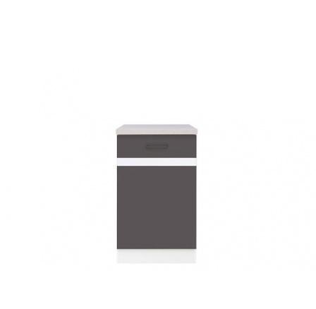 Kuchyně Junona Line, spodní skříňka D1D/50/82 P bílá/šedý wolfram