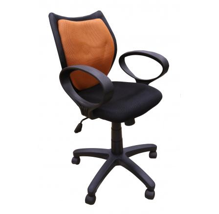 D-8127-1 - kancelářská židle - oranžová/černá (MAL)*** CH12