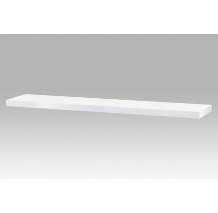 Nástěnná polička 120cm, barva bílá. Baleno v ochranné fólii.