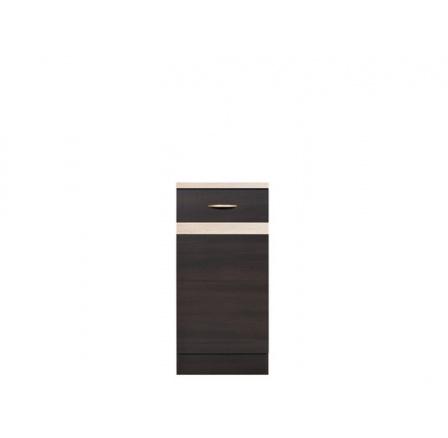 Kuchyně Junona Line, spodní skříňka D1D/40/82 P wenge/wenge