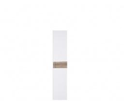 WEKTRA F3 dveře bílá/dub monument (hladký proužek)