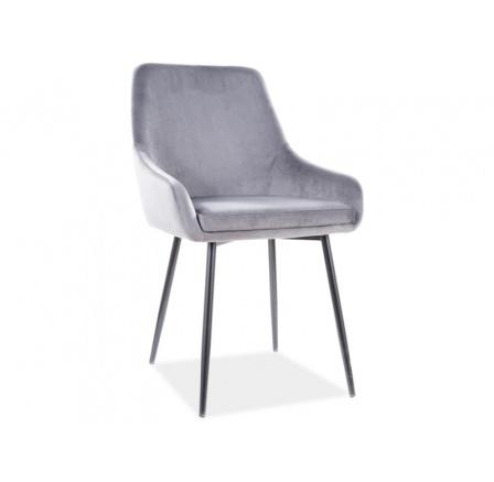 Jídelní židle ALBI VELVET TAP. 72 šedá