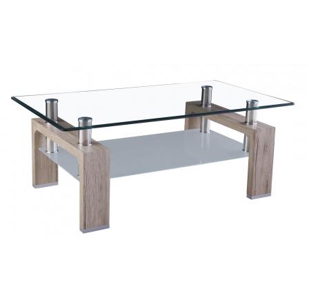 Konferenční stolek A 08-2 San remo /čiré sklo+mléčné sklo