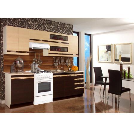 Kuchyňská linka Lungomacchiato wenge/mléčný dub