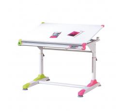 Psací stůl 2 COLORIDO, Bílo-růžovo-zelený