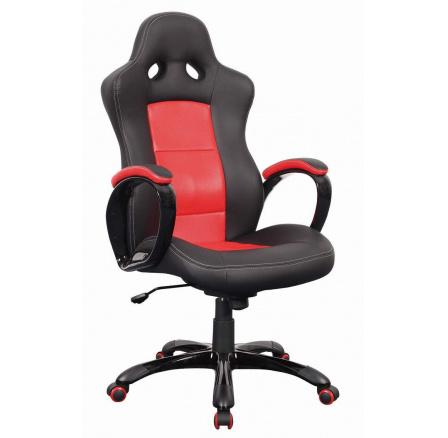 Kancelářské křeslo Q-029 /černá,červená