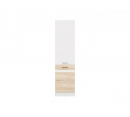 Junona Line Skříňka D2D/50/195-P bílá/bílý lesk, dub san remo světlý