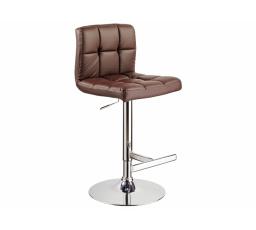 C-105  (KROC105B) -Židle barová- eco hnědá (S) - (K150-Z)