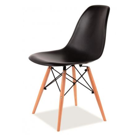 Jídelní židle ENZO, černá/buk