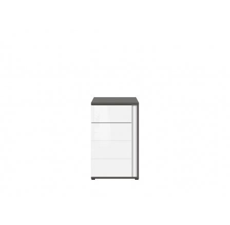 GRAPHIC (S343) KOM1D1SL/A šedý wolfram/bílý lesk