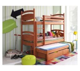 CEZARY - patrová postel pro 3 děti