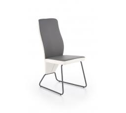K300 krzesło tył - biały, przód - popiel, stelaż - super grey (2p=4szt)