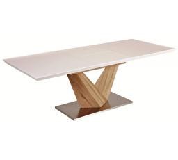 Jídelní stůl ALARAS 160 bílý / dub sonoma