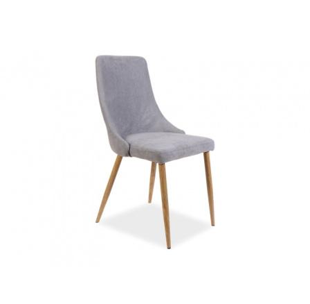 Jídelní židle NOBEL, šedá, Dub