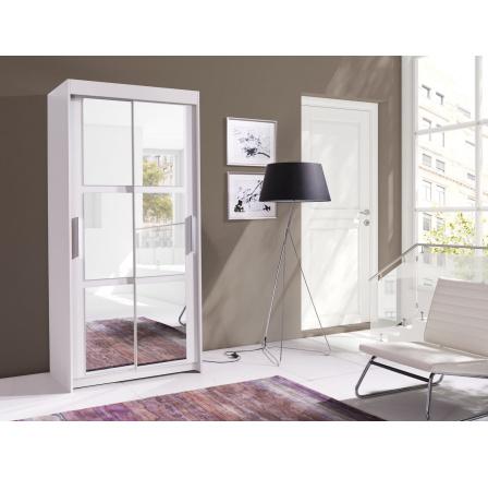 Skříň Karo 100 bílá/zrcadlo