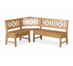 Rohová jídelní lavice BERLIN / bukové dřevo