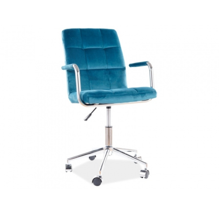 Kancelářské křeslo Q-022 VELVET - Tyrkys  Bluevel 85