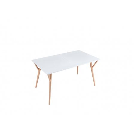 Jídelní stůl TWIGGY, dub sonoma/bílá