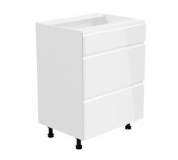 Kuchyňská dolní skřínka - ASPEN D60S3, bílý lesk